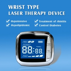 Wrist type laser therapy device for High Blood Pressure Physiotherapy